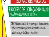 RETIFICADO - EDITAL Nº 01/2016